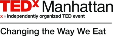 TEDxManhattan Logo, Stacked